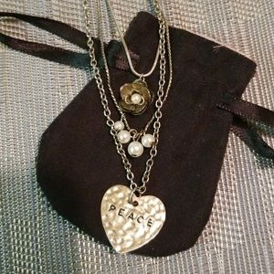 3 Layer Peace Necklace